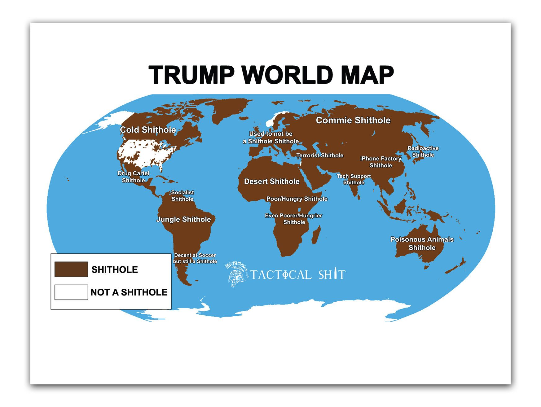 Shithole world map poster sciox Image collections