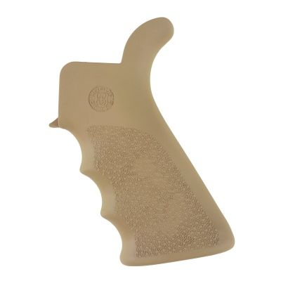 Hogue AR-15/M-16 Rubber Grip Beavertail with Finger Grooves FDE