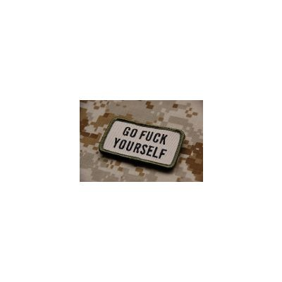 Embroidered GO F*** YOURSELF  Patch