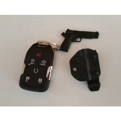 1911 Keychain with Mini Kydex Holster & Belt Clip
