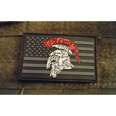Tactical Shit Gun Spartan PVC Patch