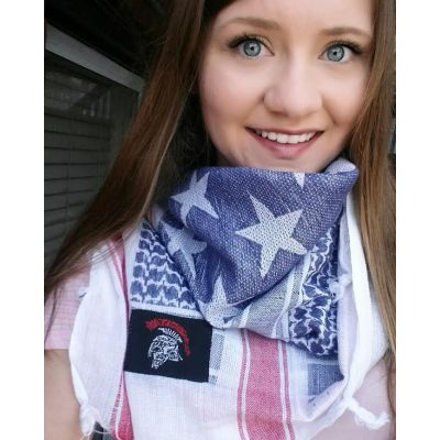 Tactical Shit Shemagh Red White and Blue Ameriflage