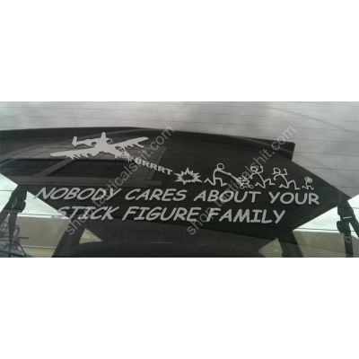 A-10 Warthog Vehicle Decal - Nobody Cares About Your Stick Figure Family