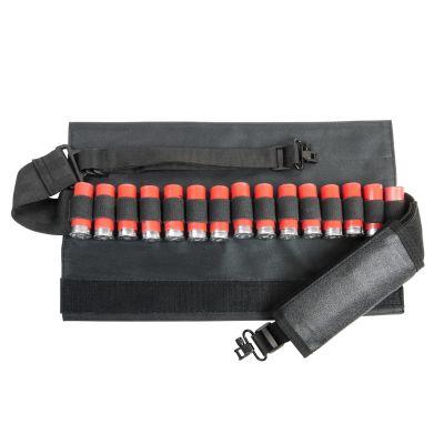 Shotgun Bandolier Sling With Sling Swivel Hardware - Black