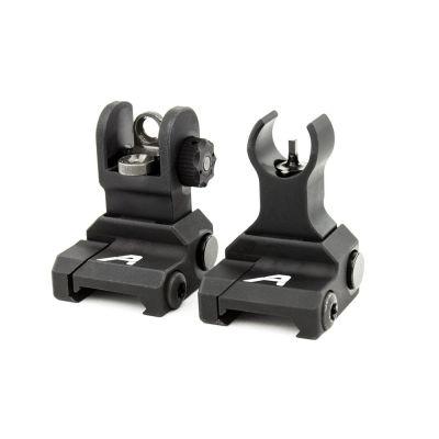 AR15 Flip-Up Sight Set-Anodized Black