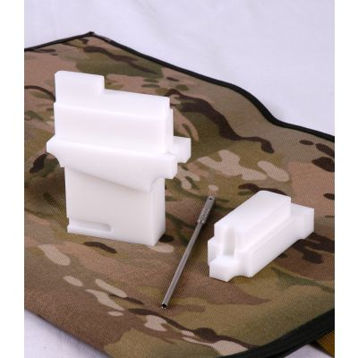 AR-15 Armorer Block, full kit, with hammer block and roll pin punch