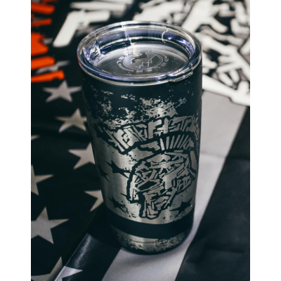 Tactical Shit Battle Worn Spartan Logo Insulated Tumbler