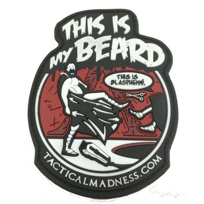 THIS IS MY BEARD SPARTA MORALE PATCH-Color