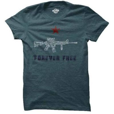Rifle Forever Free Blue Edition T-Shirt