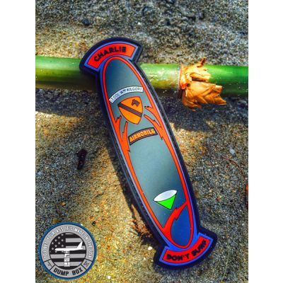 """APOCALYPSE NOW' """"CHARLIE DON'T SURF"""" KILGORE SURFBOARD PVC MORALE PATCH - ORIGINAL"""