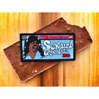 """COMING TO AMERICA """"SEXUAL CHOCOLATE BAR"""" EDDIE MURPHY MORALE PATCH"""