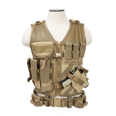 Tactical Vest/Tan  M-Xl