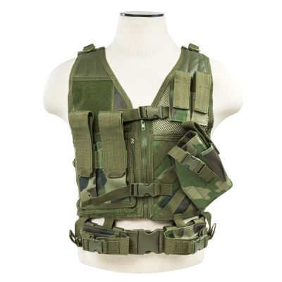 Tactical Vest/Woodland Camo Xs-S