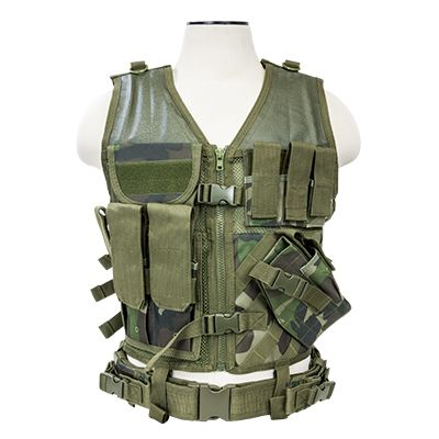 Tactical Vest/Woodland Camo  Xl-Xxl+
