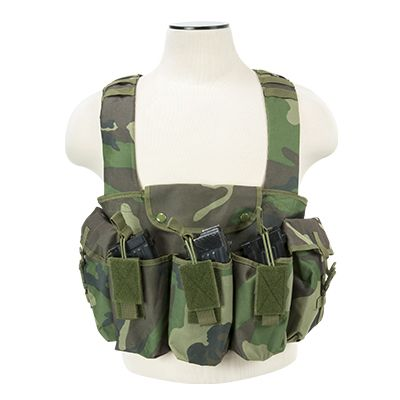 AK Chest Rig/Woodland Camo