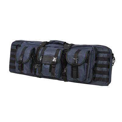 Double Carbine Case/Blue With Black Trim/42 In