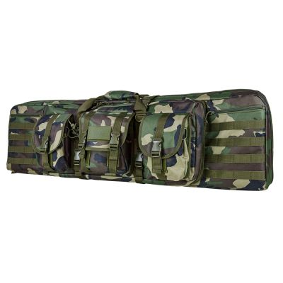 Double Carbine Case/Woodland Camo/42 In