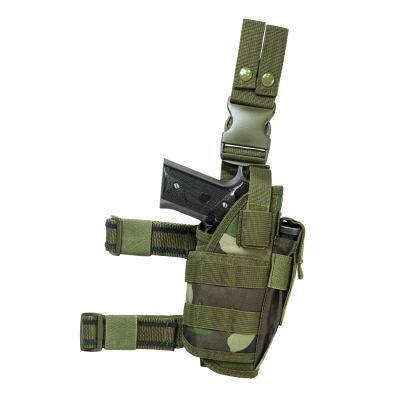 Drop Leg Tactical Holster/ Woodland Camo