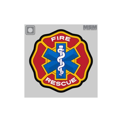 Fire Rescue PVC Patch