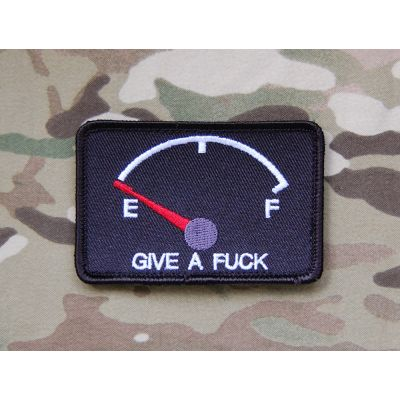 GIVE A FUCK Empty Fuel Gauge Morale patch