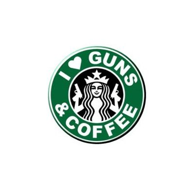I Love Guns & Coffee Sticker