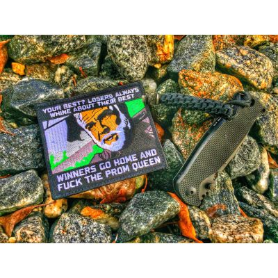 """THE ROCK' """"LOSERS ALWAYS WHINE ABOUT THEIR BEST"""" SEAN CONNERY MORALE PATCH"""