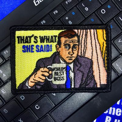 """THE OFFICE' MICHAEL SCOTT """"THAT'S WHAT SHE SAID"""" MORALE PATCH"""