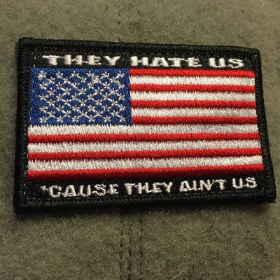 They Hate Us 'Cause They Ain't US Flag Patch