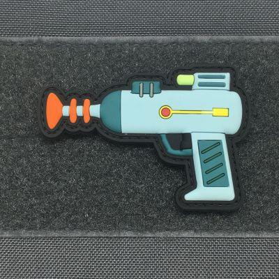 RICK'S LASER GUN 3D PVC MORALE PATCH