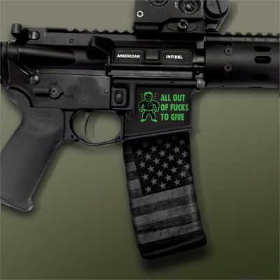 AR-15 Mag Well Decals - Mil-Spec Monkey , All Out of F**ks