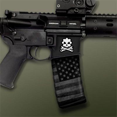 AR-15 Mag Well Decals - Mil-Spec Monkey , Death Mechanic