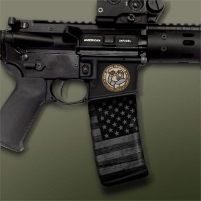 AR-15 Mag Well Decals - Mil-Spec Monkey, Pork Eating Crusader