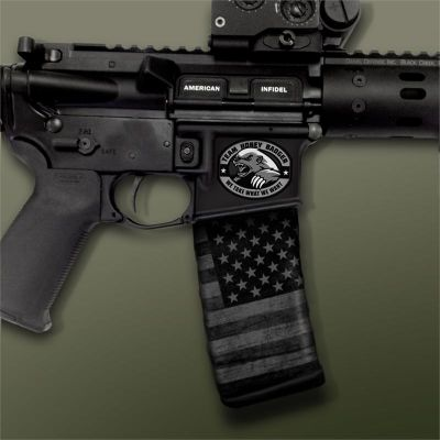 AR-15 Mag Well Decals -Mil-Spec Monkey Team Honey Badger