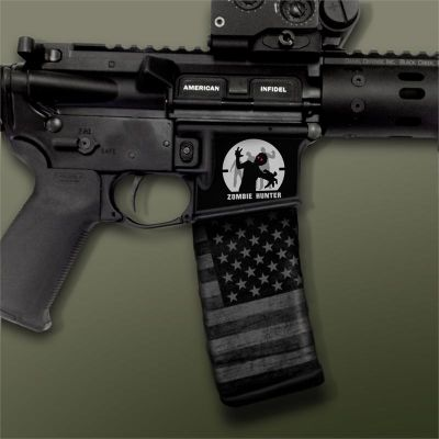 AR-15 Mag Well Decals - Mil-Spec Monkey, Zombie Hunter
