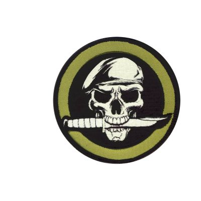 Military Skull with Knife Patch