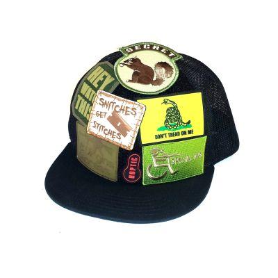Mo-Cap Velcro Trucker Hat-Black