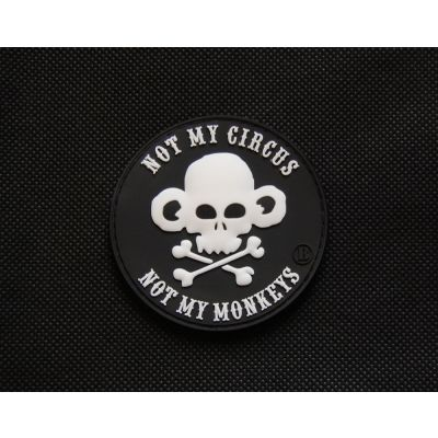 Not My Circus, Not My Monkeys 3D PVC Patch
