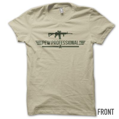 Pew Professional T-Shirt (Tan)