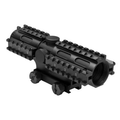 Tri-Rail Series 4X32 Compact Scope/3 Rail Sighting System P4 Sniper/Blue/Weaver Mount