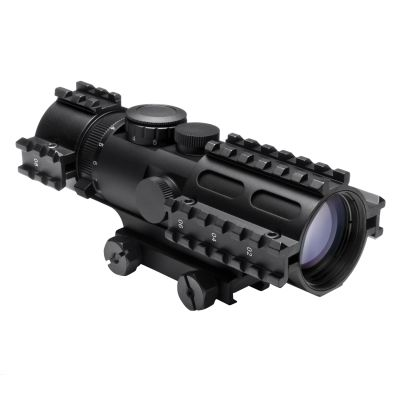 Tri-Rail Series 3-9X42 Compact Scope/3 Rail Sighting System/Blue Ill. Rangefinder/Weaver Mount