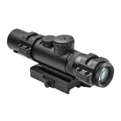 Xrs Series 2-7X32  Modular Scope/ 3 Different Upper Rings And Micro Dot Base Mount Included/ P4 Sniper/ Blue Illumination/Green/Picatinny Mount Is Convertible To AR15 Carry Handle Mount