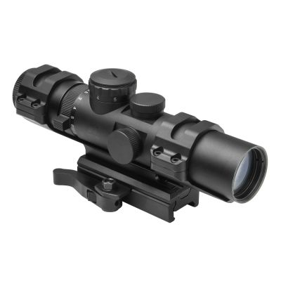 Xrs Series 2-7X32  Modular Scope/ 3 Different Upper Rings And Micro Dot Base Mount Included/ Mil-Dot/ Blue Illumination/Green/Picatinny Mount Is Convertible To AR15 Carry Handle Mount