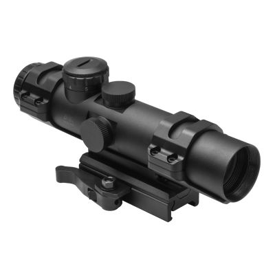 Xrs Series 4X32  Modular Scope/ 3 Different Upper Rings And Micro Dot Base Mount Included/ P4 Sniper/ Blue Illumination/Green/Picatinny Mount Is Convertible To AR15 Carry Handle Mount