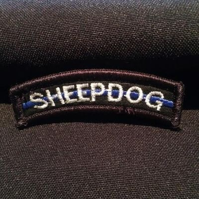 Sheepdog Thin Blue Line Tab