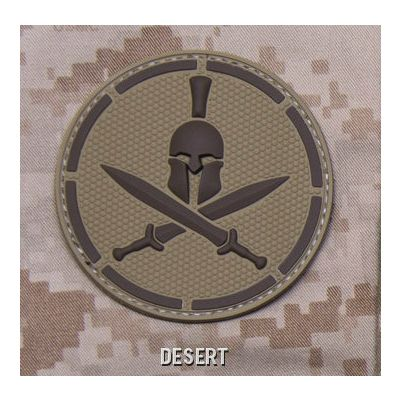 Spartan Helmet PVC Patch