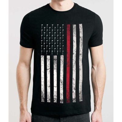 THIN RED LINE CREW NECK