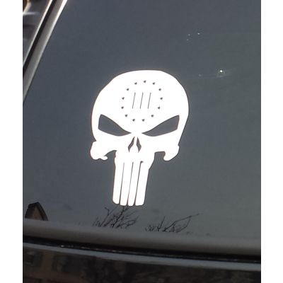 Threeper skull sticker