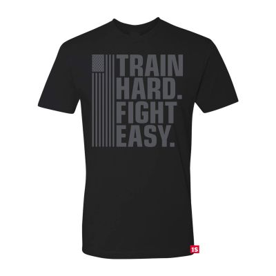 One Shot Industries Train Hard Fight Easy-Red Label Edition Mens Tshirt