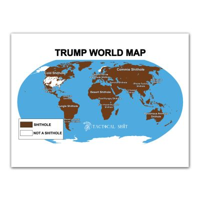 Shithole World Map Poster