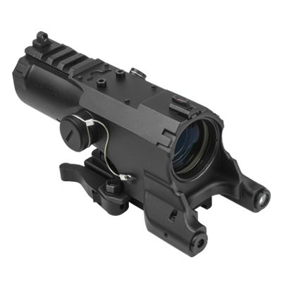 Eco Series Optic 4X 34mm/ Green Laser/ Red & White Nav Led Light/ Quick Release Mount/ Black